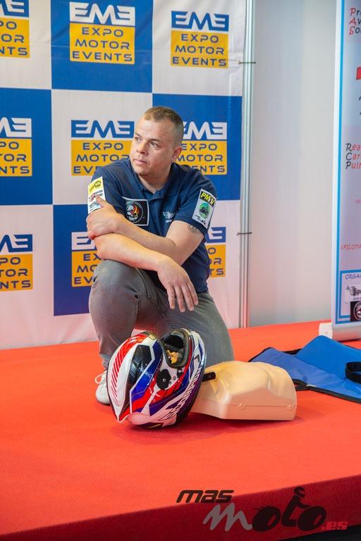 Roberto Oliver en el Taller de Primeros Auxilios en Motorama Madrid 2020