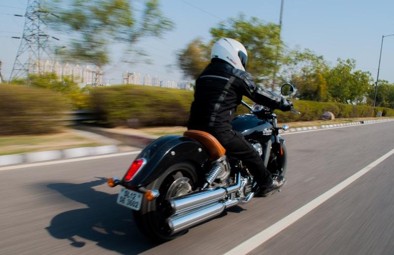 Prueba de una moto de carretera