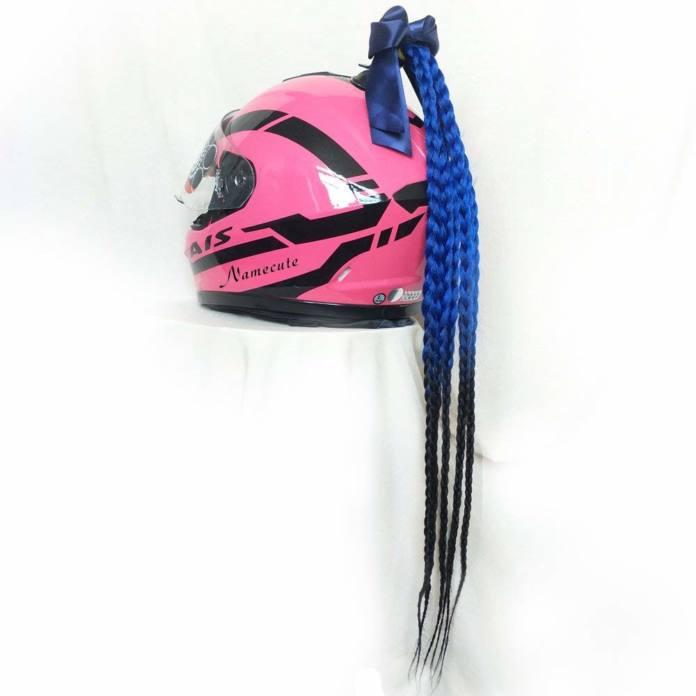 Trenzas para casco de moto