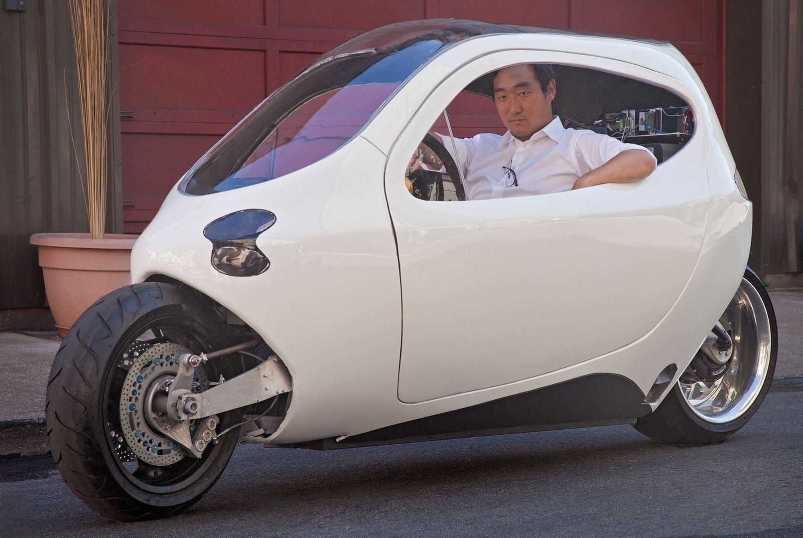 """Lit Motors C1, la """"moto"""" eléctrica que no vuelca - Masmoto.es"""