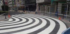 Paso de peatones de Avenida Ruzafa en Benidorm